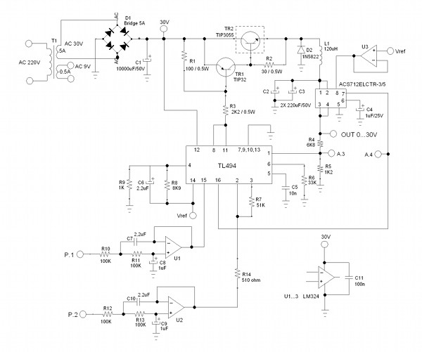 Circuit's Schematic Diagram.