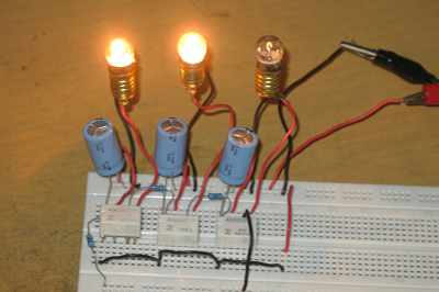 Chasing Light Controller Using Relays