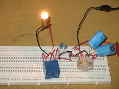 lamp-flasher-using-two-relays