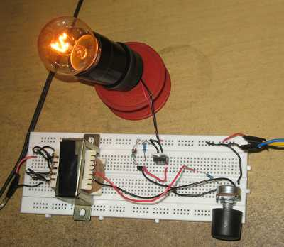 Figure 1. Assembled Audio Controlled Disco Light Circuit