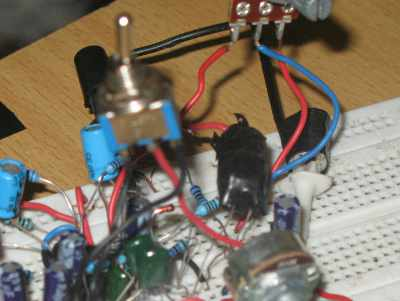 Figure 1. Auto Wah Effect Circuit Assembled in Bread Board