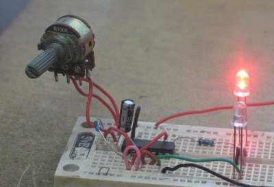 Figure 1. Assembled Inverter Flip-Flop Circuit