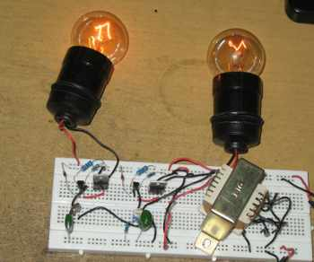 Figure 1. Hight Voltage Bass-Treble Automatic Disco Light Controller Assembled Circuit